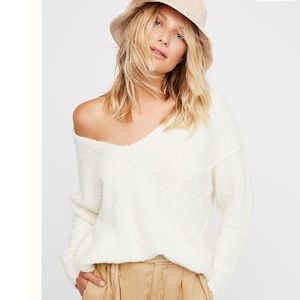 Free People Lofty V-Neck Pullover Sweater